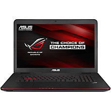"Buy Asus ROG G771JM Laptop, Intel Core i7, 12GB RAM, 1TB + 256GB SSD, 17.3"", Black Online at johnlewis.com"