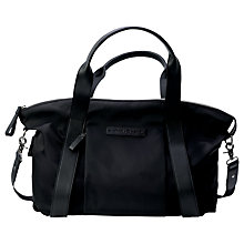 Buy Bugaboo Storksak Leather Look Changing Bag, Black Online at johnlewis.com
