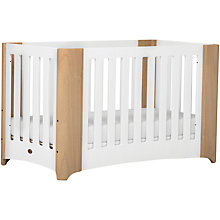 Buy Boori Dawn Expandable Cotbed, White/Beech Online at johnlewis.com