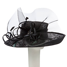 Buy John Lewis Tali Crinoline Loop Up Brim Occasion Hat, Black Online at johnlewis.com