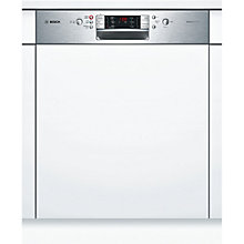 Buy Bosch SMI53E05GB Semi-Integrated Dishwasher, Brushed Steel Online at johnlewis.com