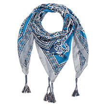 Buy Gerard Darel Silk Scarf, Blue Online at johnlewis.com