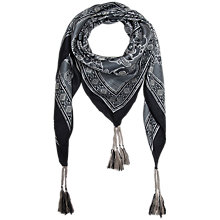 Buy Gerard Darel Agnes Silk Scarf, Grey Online at johnlewis.com