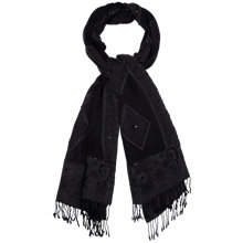 Buy Gerard Darel Embellished Wool Scarf, Black Online at johnlewis.com