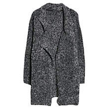Buy Mango Boucle Knit Cardigan, Medium Grey Online at johnlewis.com