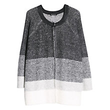 Buy Mango Striped Cardigan, Medium Grey Online at johnlewis.com