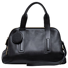 Buy Gerard Darel Leather Grab Handbag, Black Online at johnlewis.com