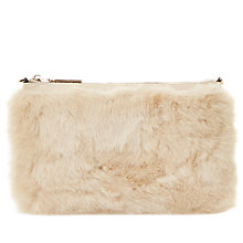 Buy Dune Efurry Faux Fur Clutch Bag Online at johnlewis.com