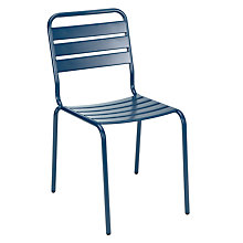 Buy House by John Lewis Jive Outdoor Dining Chair, Navy Online at johnlewis.com