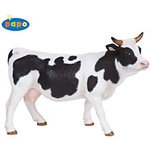 Buy Papo Figurines: Black & White Cow Online at johnlewis.com
