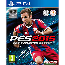 Buy Pro Evolution Soccer 2015, PS4 Online at johnlewis.com