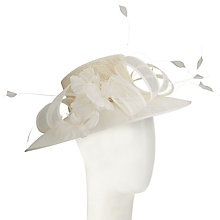 Buy John Lewis Cath Curl Down Brim Occasion Hat, Ivory Online at johnlewis.com
