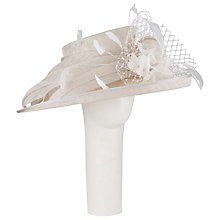 Buy John Lewis Upturned Brim Occasion Hat, Oyster Online at johnlewis.com