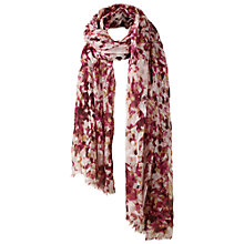 Buy Fat Face Abstract Pattern Print Scarf, Purple Online at johnlewis.com