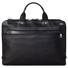Buy Jack Spade Mason Slim Briefcase, Black Online at johnlewis.com