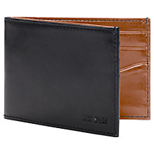 Buy Jack Spade Mitchell Leather Index Wallet, Black/Brown Online at johnlewis.com