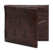 Buy Jack Spade Embossed Anchor Bill Holder Leather Wallet, Brown Online at johnlewis.com
