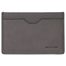 Buy Jack Spade Grant Leather Index Wallet, Charcoal Online at johnlewis.com