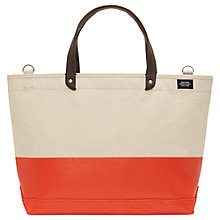Buy Jack Spade Dipped Canvas Holdall, Natural/Orange Online at johnlewis.com