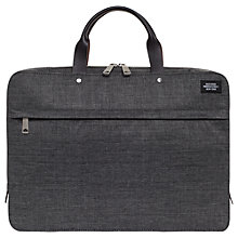 Buy Jack Spade Tech Oxford Slim Briefcase, Grey Online at johnlewis.com