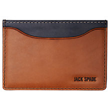Buy Jack Spade Mitchell Leather Credit Card Holder, Chocolate/Navy Online at johnlewis.com