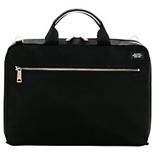 Buy Jack Spade Glen Briefcase, Black Online at johnlewis.com