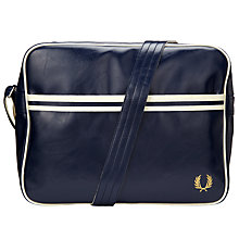 Buy Fred Perry Classic Shoulder Bag, Navy/Ecru Online at johnlewis.com