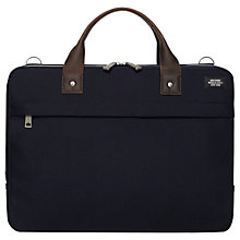 Buy Jack Spade Luggage Nylon Slim Briefcase, Navy Online at johnlewis.com