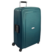 Buy Samsonite S'cure Delux 4-Wheel 81cm Extra Large Suitcase, Green Online at johnlewis.com