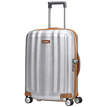 Buy Samsonite Litecube DLX 4-Wheel 55cm Cabin Suitcase, Silver Online at johnlewis.com