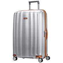 Buy Samsonite Litecube DLX 4-Wheel 82cm Extra Large Suitcase, Silver Online at johnlewis.com