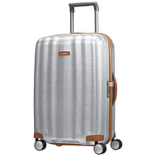 Buy Samsonite Litecube DLX 4-Wheel 68cm Medium Suitcase, Silver Online at johnlewis.com