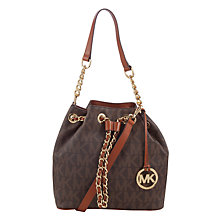 Buy MICHAEL Michael Kors Frankie Leather Medium Drawstring Bucket Bag Online at johnlewis.com