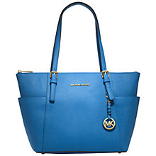 Buy MICHAEL Michael Kors Jet Set East/West Large Leather Top Zip Tote Bag Online at johnlewis.com
