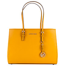 Buy MICHAEL Michael Kors East West Travel Large Leather Tote Bag Online at johnlewis.com