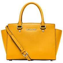 Buy MICHAEL Michael Kors Selma Saffiano Medium Leather Satchel Online at johnlewis.com