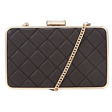 Buy MICHAEL Michael Kors Elsie Quilted Leather Box Clutch, Black Online at johnlewis.com