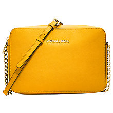 Buy MICHAEL Michael Kors Jet Set Travel East/West Saffiano Leather Crossbody Bag Online at johnlewis.com