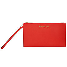 Buy MICHAEL Michael Kors Jet Set Travel Zip Leather Clutch Bag Online at johnlewis.com