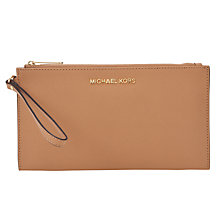 Buy MICHAEL Michael Kors Jet Set Travel Zip Clutch Bag, Suntan Online at johnlewis.com