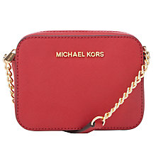 Buy MICHAEL Michael Kors Jet Set Travel Crossbody Bag, Red Online at johnlewis.com