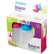 Buy Sistema Sauce To Go, Set of 3 Online at johnlewis.com