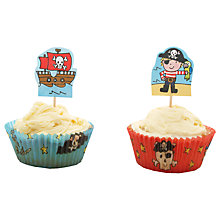 Buy Mason Cash Pirates Cupcake Cases and Toppers, Pack of 24 Online at johnlewis.com