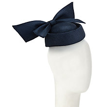 Buy Whiteley Mar Bow Pillbox Occasion Hat, Navy Online at johnlewis.com