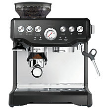 Buy Sage by Heston Blumenthal Barista Express Bean-to-Cup Coffee Machine, Silver & Black Online at johnlewis.com