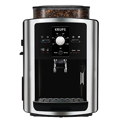 buy krups ea801040 espresseria bean to cup coffee machine stainless steel john lewis. Black Bedroom Furniture Sets. Home Design Ideas