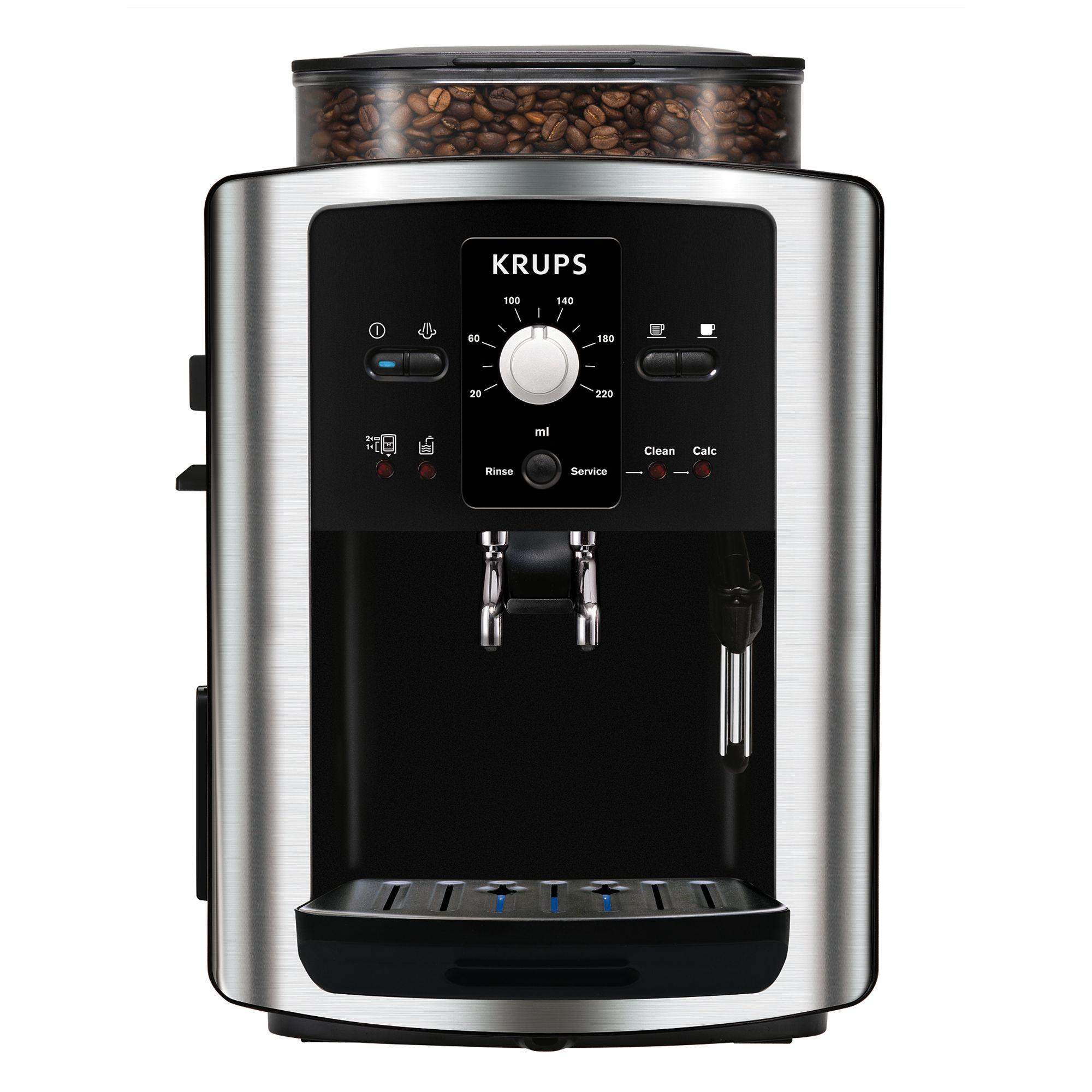 Krups KRUPS EA801040 Espresseria Bean-to-Cup Coffee Machine, Stainless Steel