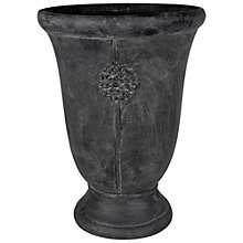 Buy Ivyline Tuscany Embossed Urn, Grey Online at johnlewis.com