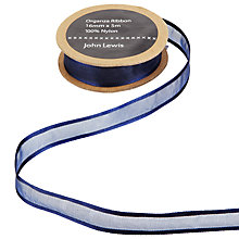 Buy John Lewis Woven Edge Sheer Ribbon, 16mm Online at johnlewis.com