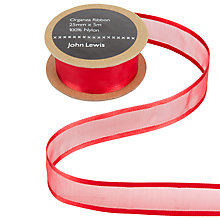 Buy John Lewis Satin Edge Sheer Ribbon, 25mm Online at johnlewis.com